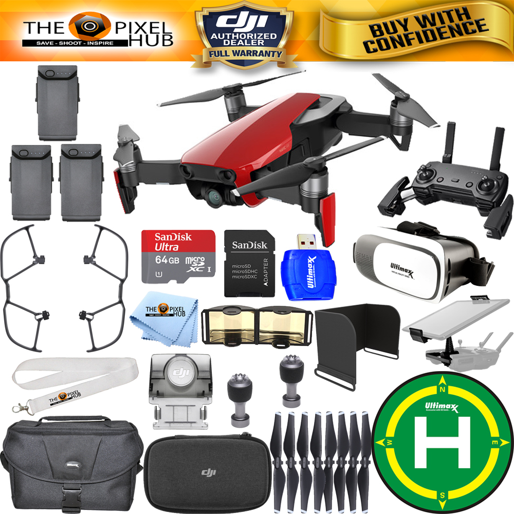 Details about DJI Mavic Air (Flame Red) 3 BATTERY All You Need Bundle IN  STOCK NEW