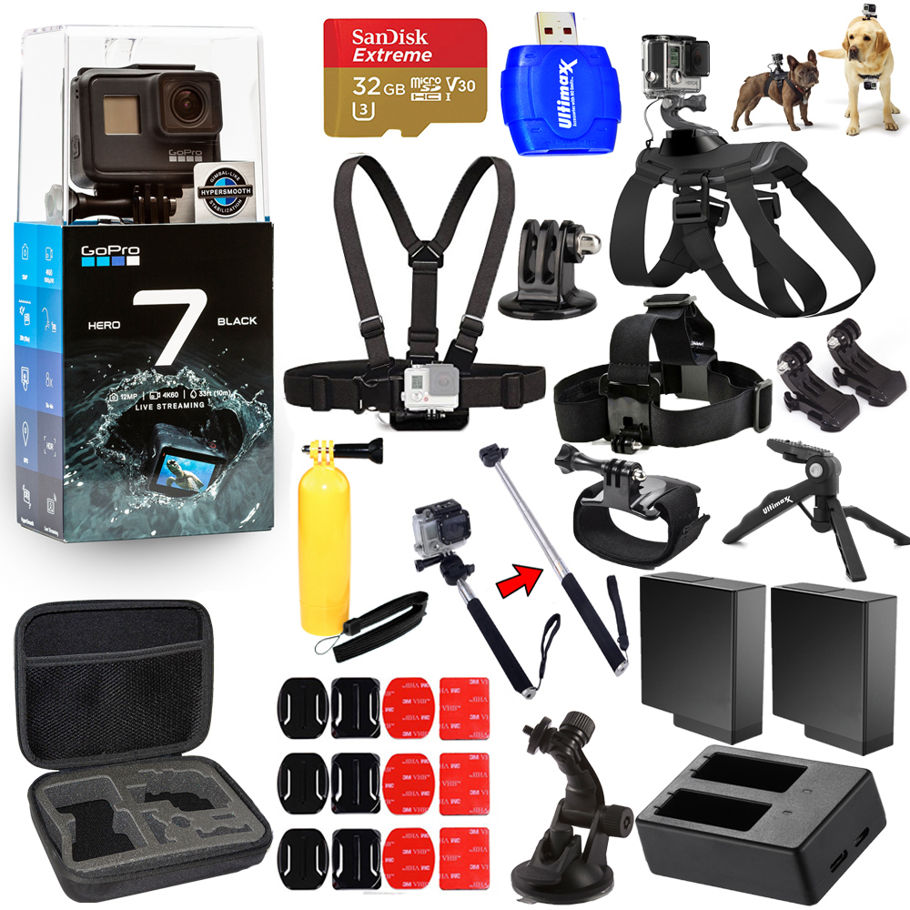Details about GoPro HERO7 HERO 7 Black All In 1 MEGA ACCESSORY BUNDLE for  ALL Occasions NEW
