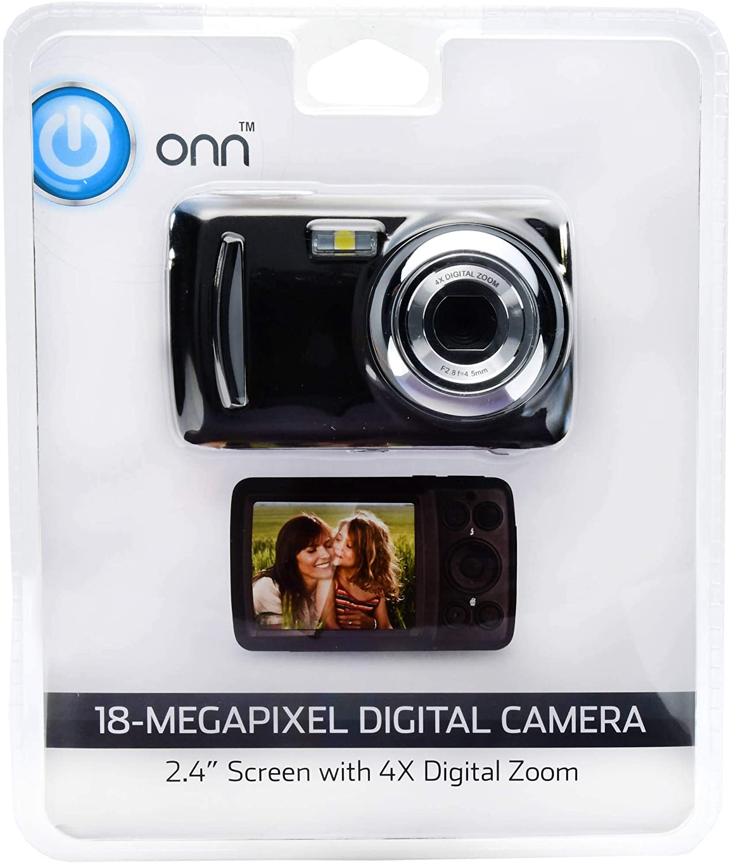 Onn 18MP Kids Digital Camera 2.4″ Screen with 4x Digital Zoom + 32GB Bundle